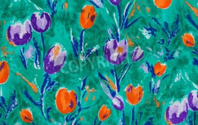 Картина Тюльпан ткань печати крупным планом фон.