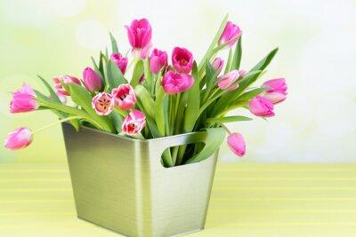 Картина tulpenstrauß в дер вазе