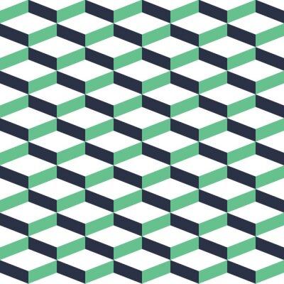Картина Бирюзовый Геометрическая Иллюзия Бесшовные шаблон