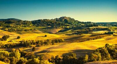 Картина Тосканский лето, средневековая деревня Монтепульчано. Сиена, Италия