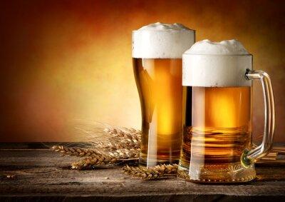 Картина Two mugs of beer