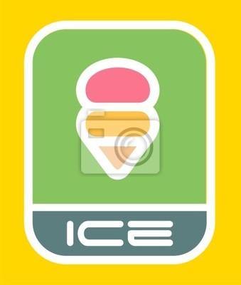 Городской мороженое знак