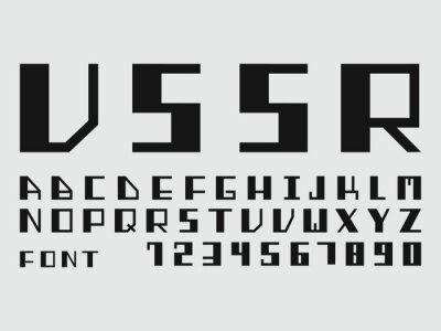 USSR font. Vector alphabet