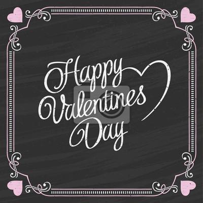 День Святого Валентина Надписи на доске фоне.