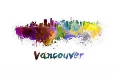 Картина Ванкувер горизонта акварелью