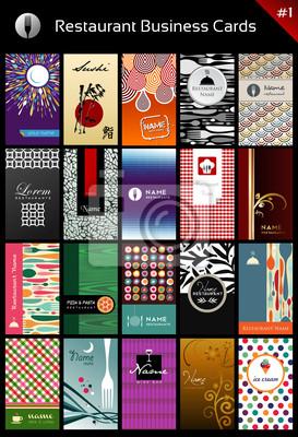 Разнообразие визитные карточки шаблон для ресторана