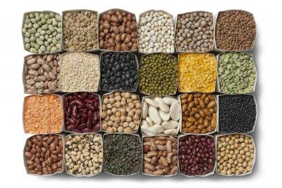 Картина Разнообразие сушеные бобы и чечевица