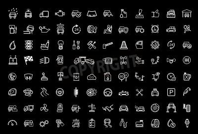 Картина Векторный черный набор иконок