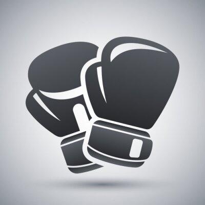 Картина Вектор боксерские перчатки значок