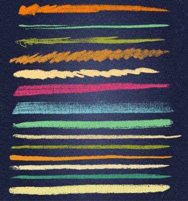 Картина вектор меловые линии или щетки