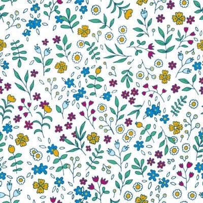 Картина Вектор красочные цветочные бесшовные модели