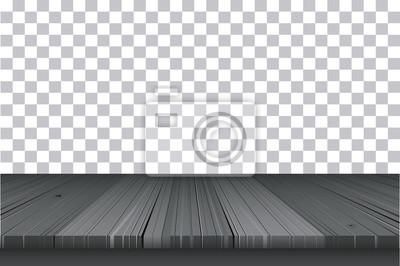 Вектор темного дерева стол сверху на изолированных фоне