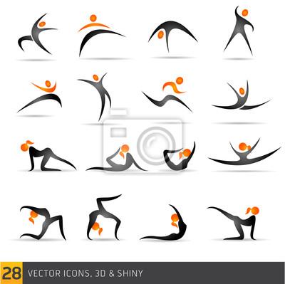 векторные элементы фитнеса