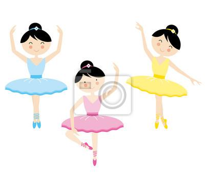 Векторная иллюстрация девушка танцует балет