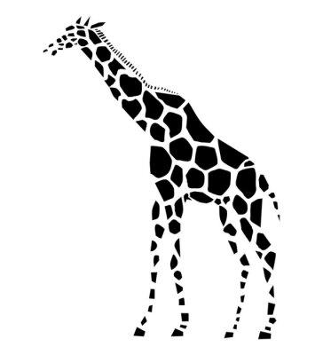 Векторная иллюстрация жирафа, вид сбоку