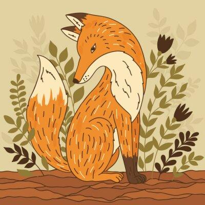 Картина Векторная иллюстрация с лисой
