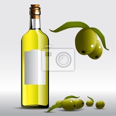 бутылка масла вектор оливковое