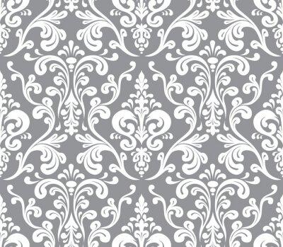 Картина Вектор. Бесшовные элегантный узор узор. Серый и белый