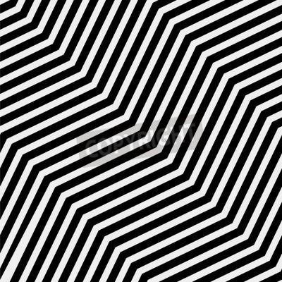 Картина Вектор бесшовные модели. Современный стильный текстура. Повторяя геометрические плитки с объемной диагональю зигзага - Векторный