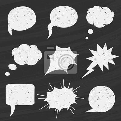 Вектор Набор Классная доска речи пузыри - иллюстрация