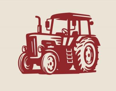 Картина вектор Символ трактора