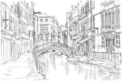 Картина Венеция - Фондамента Рио Марин
