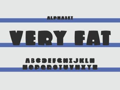 Very fat font. Vector alphabet