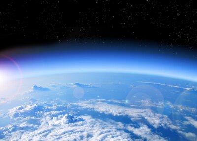 Картина вид Земли из космоса