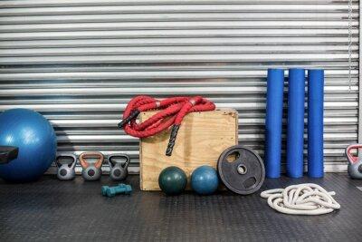 Картина Вид оборудования для фитнеса