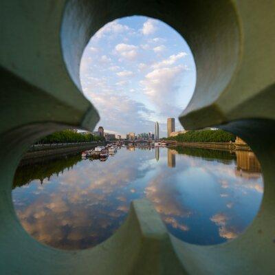 Картина вид на реку Темзу в Лондоне