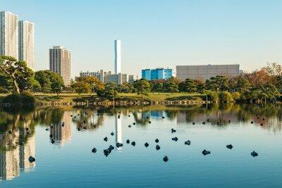 Картина Вид на токийский городской пейзаж с видом на парк
