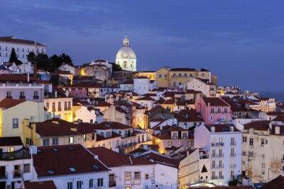 Картина Вид на Старый город в Лиссабоне в Португалии