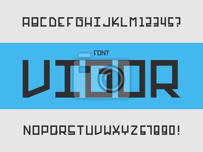 Vigor font. Vector alphabet
