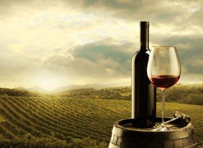 Картина Виноградник на закате
