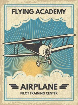 Картина Винтажный плакат aircaft. Векторные иллюстрации