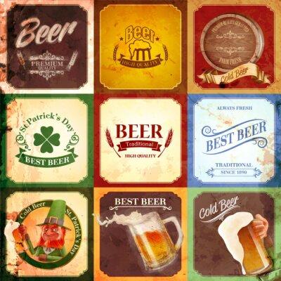 Картина vintage banner beer