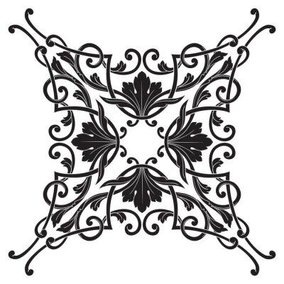 Картина Урожай барокко кадр орнамент гравировка прокрутки