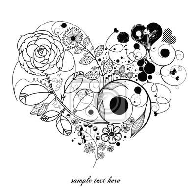 старинные цветок-любовь