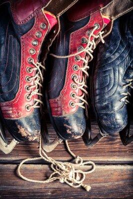 Картина Vintage хоккейные коньки