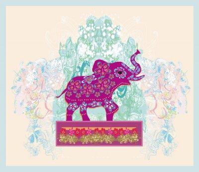 Картина Старинные индийские украшения со слоном