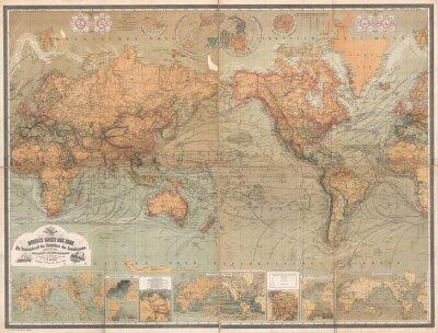 Картина старинные карты