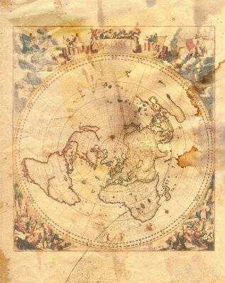 Картина старинные карты мира
