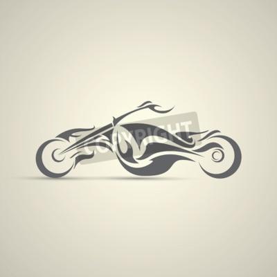 Картина винтажная этикетка мотоцикла, значок, элемент дизайна. абстрактный логотип мотоцикла