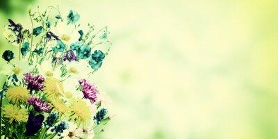 Картина Старинные открытки с полевыми цветами