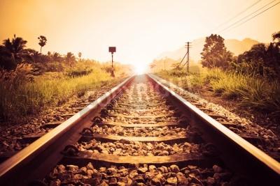 Картина vintage railroad
