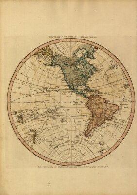 Картина Урожай карта мира