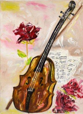 Картина Скрипка и розы