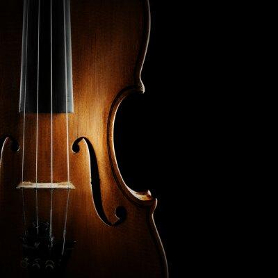 Картина Скрипка оркестр музыкальные инструменты
