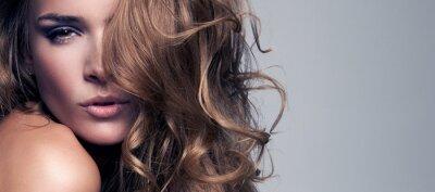 Картина моде стиль портрет красивой нежной женщины