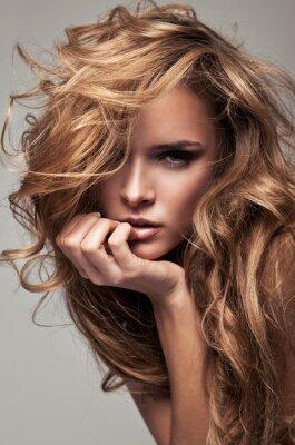 Картина Vogue стиль портрет нежной блондинка